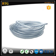 Steel Wire reinforced PVC Industrial Vacuum Clear Flexible Duct Hose