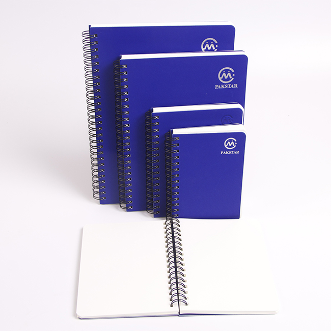 Custom spiral A4 hardcover exercise book with blank pages