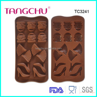 High heel shoes bags fan silicone chocolate mold microwave oven freezer safe non stick reusable TC3241