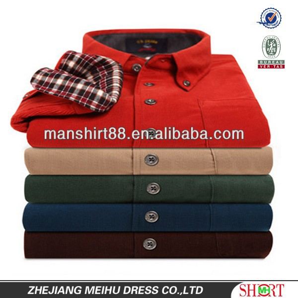 latest new thick warm mens heavy cotton corduroy shirt