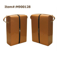 Portable Bag Cardboard Box Bottle PU Faux Leather Wine Carrier