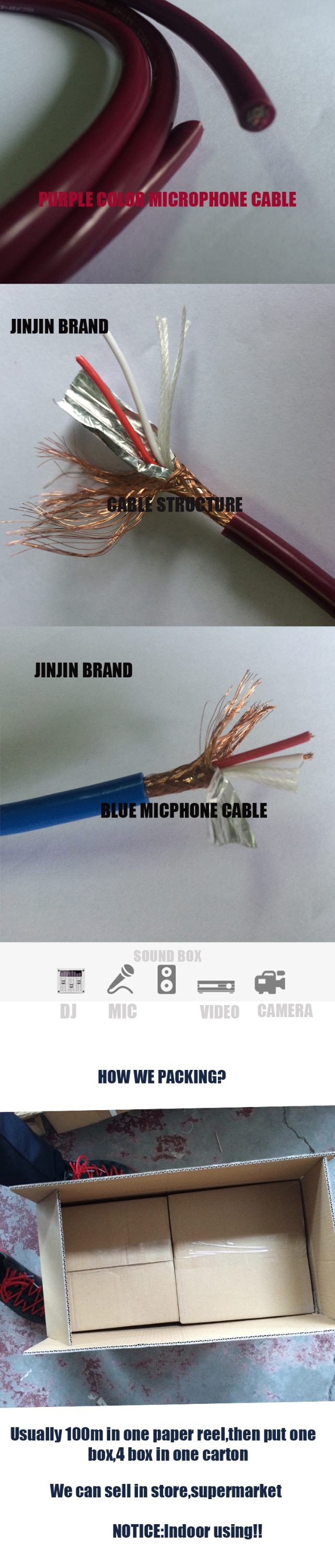 low noise Microphone Cable