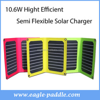 Semi Flexible Energy Solar Battery Charger Color Thin Film Solar Panel