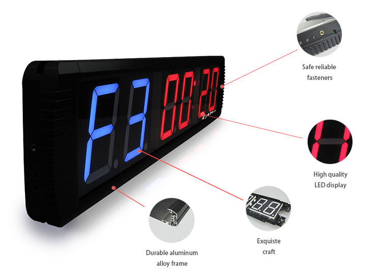 Good quality 60 second digital wall led electric countdown timer
