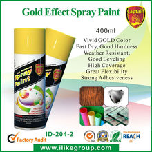 Gold Effect Spray Paint coating