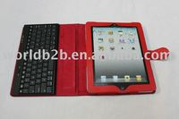 wireless leather bluetooth keyboard case for Ipad 2/3
