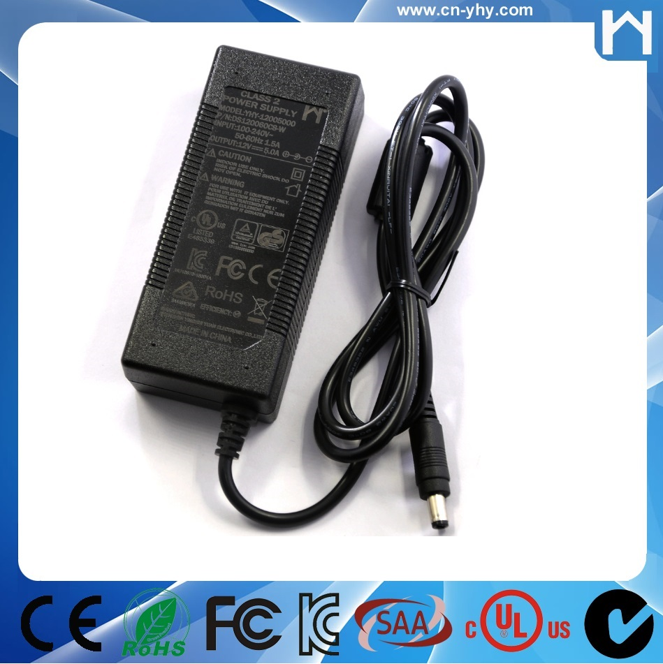 Class 2 AC Adapter 12V 5A 5000ma UL 1310 Power supply 12V 5A for led strip lights