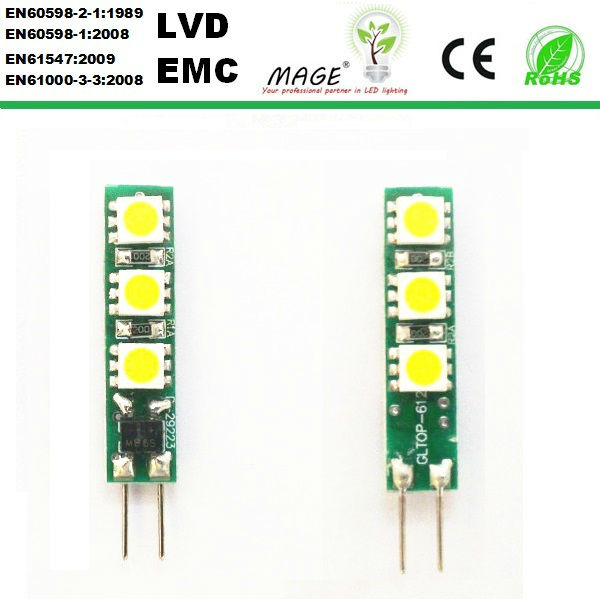 good and long shape 12v 1W LED bulbs g4 hot sale down lighting