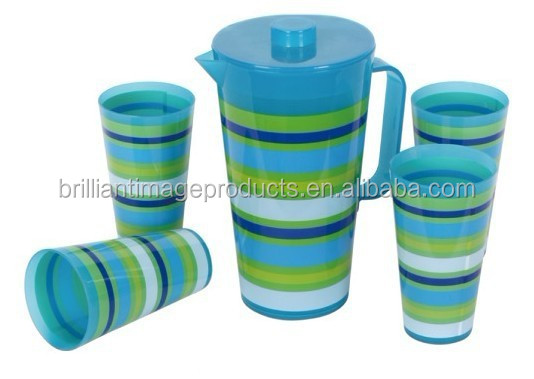 5pcs pitcher with printing set