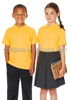 Colorful Customized School Uniform Polo T Shirts