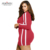 In Stock Striped Long Sleeve Dress Women Plus Size