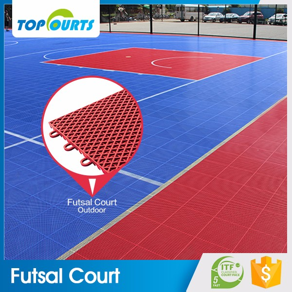 Healthy plastic materials standard size outdoor construction portable china manufacturer interlocking futsal flooring