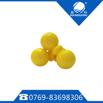 Yellow Solid Rubber Silicone Double Lacrosse Ball Peanut Massage Ball