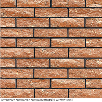 Nature Granto orange Split brick exterior & interior Ceramic Wall tiles