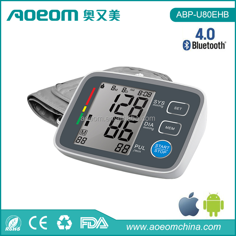 Colorful Digital Bluetooth Blood Pressure Monitor Medical Device ARM