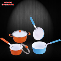 non-stick ceramic mini pan set cute fry pan sauce pot milk pan
