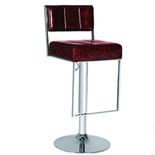 XQ-535 PU Leather Cheap Used Swivel Bar Stool with Backrest and Footrest