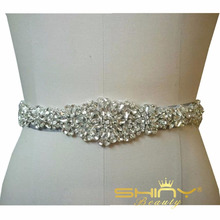 Rhinestones Bridal sash Wedding Dress sash belt Crystal waist Belt with Beaded