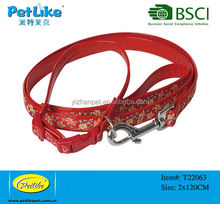 2016 hot sell embroidered nylon dog collar leash
