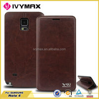 Best price mobile phone pu leather case for samsung galaxy note 4 wallet case