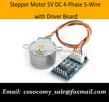 Dc 5v 4 Phase 5 Wire Stepper Motor With Driver Board For