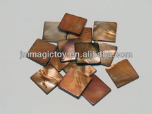 SB006 DIY Brown Square Decorative Raw Sea Shell