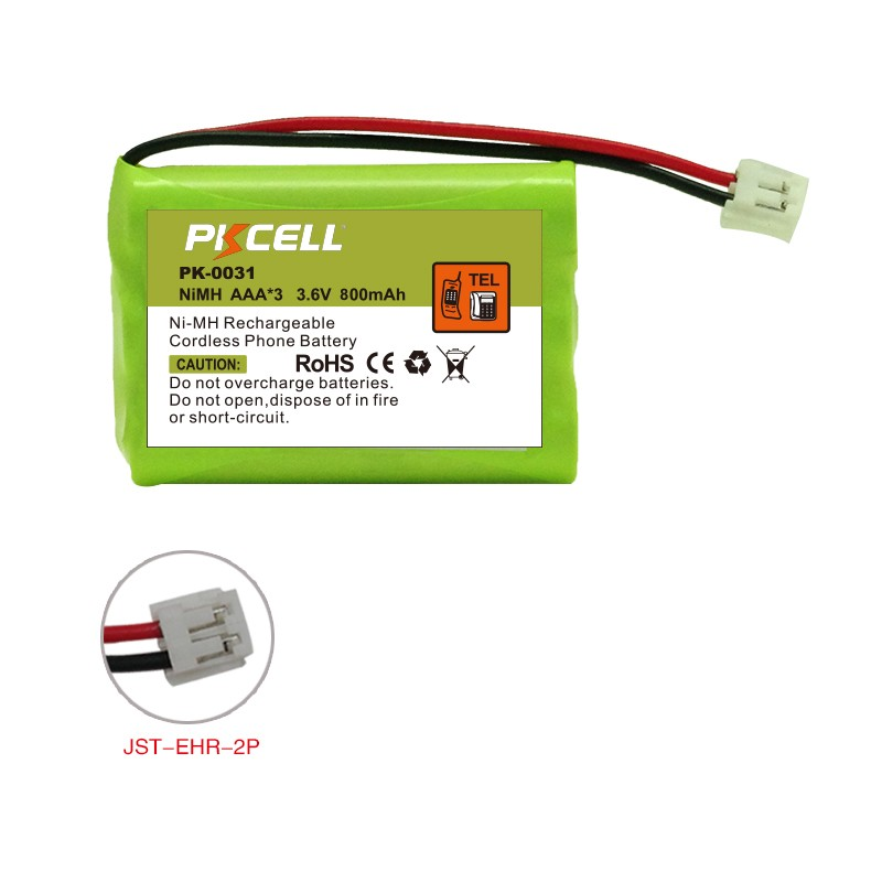 Hot Sale PK-0031 Rechargeable Cordless Phone Battery Pack Ni-MH AAA*3 3.6V 800mAh