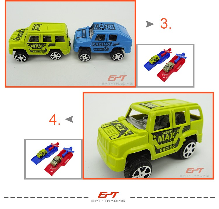 Plastic ejection track racing car toys for kids