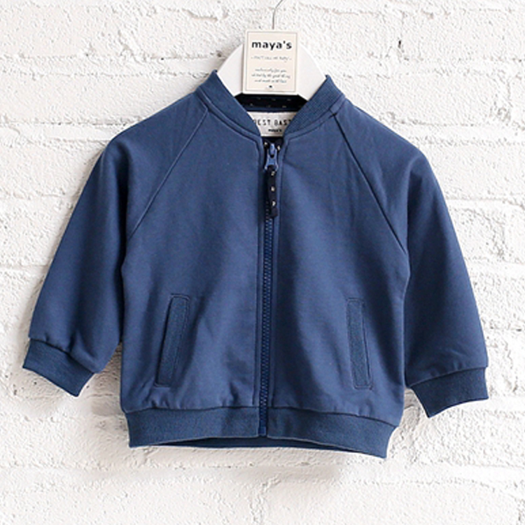 Wholesale spring baseball school boys fleece varsity kids jacket