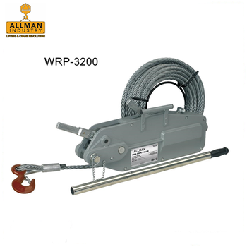ALLMAN 3.2ton 20m cable aluminum alloy housing manual tirfor winch