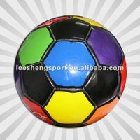 Multi colors machine stitched football soccer ball