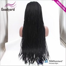 Wholesale african full fully hand braided lace front wig