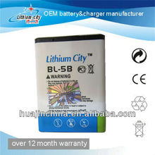 For Nokia BL-5C 3110c battery guangzhou battery manufacturer