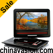 Portable 12.1 Inch Screen DVD Player with Copy Function, 270 Degree Swivel Screen