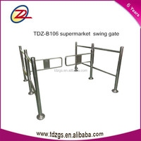 supermaket entrance security turnstile gate, door access control automatic barrier gate system