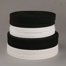 woven / knitted elastic band ribbon tape with holes