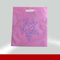 Promotion non woven flower patterned folding shopping bag 100% manufacturer