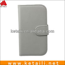 White PU Leather Cell phone cases cover for samsung i9500