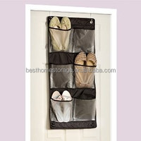 pvc pockets over the door hanging shoe organizer