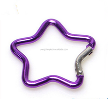 Star Shaped Carabiners For Outdoor, wholesale Aluminium Carabiner Clips