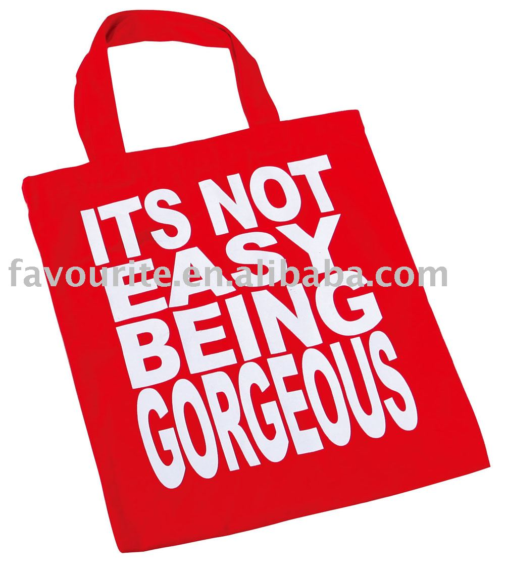 customer printed shopping bag / canvas bag / promotional bag