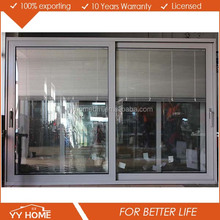 Aluminium luxury partition wall sliding doors With Built In Louvres