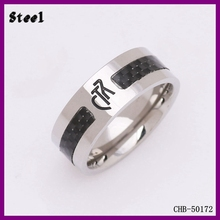 Best Selling Yiwu factory 316L Stainless Steel CTR Alphabet Finger Ring