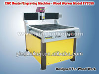 Manufacturing New Designed Used CNC Wood Lathe Machine Fit Advertising/Wood/Metal FY7090