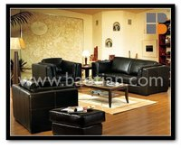 Europe style top grain leather sofa set 0254overstuffed living room North America bright colt living room furniture