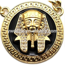CZ Diamond Hip Hop Egyptian Sphinx Pharaoh Pendant Charms Jewelry