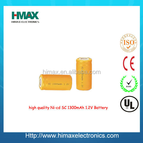 3.6V ni-cd emergency light battery pack SC 1500mAh~1800mAh/NICD high temperature battery