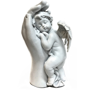 Quietly Mother Hand - Baby Angel, Baby Angel Statues and Figurines Loves Child Cupid Angel Cherub Statue Home Decor