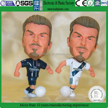 3D caroon football star dolls,Custom 3D Plastic football player dolls,Custom made plastic doll football star figurine