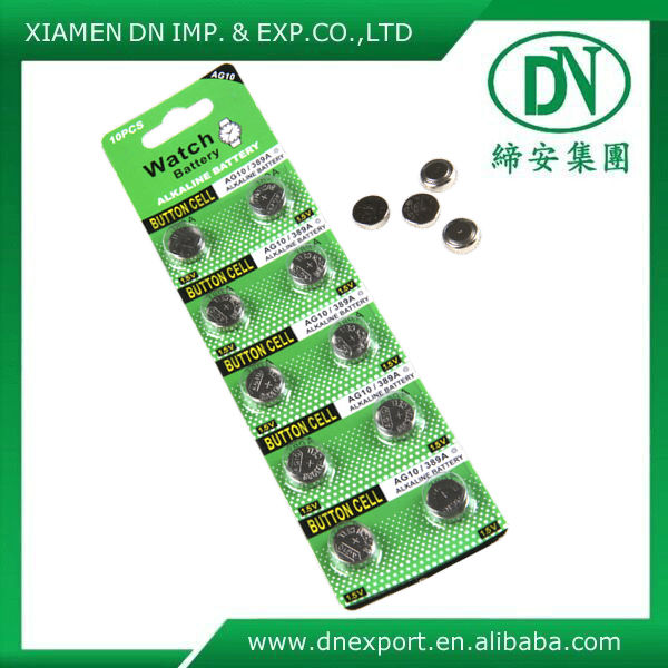 Sell alkaline button cell battery used in many fields AG2/AG4/AG8/AG10/AG13